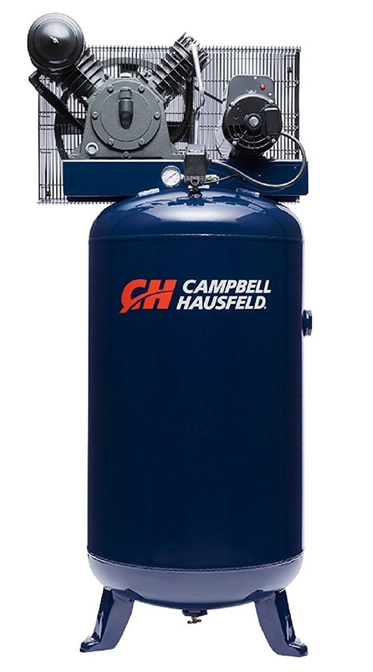 Campbell Hausfeld HS5180 Air Compressor, 80 Gallon Vertical Two Stage 14CFM 5HP 208-230V 1PH