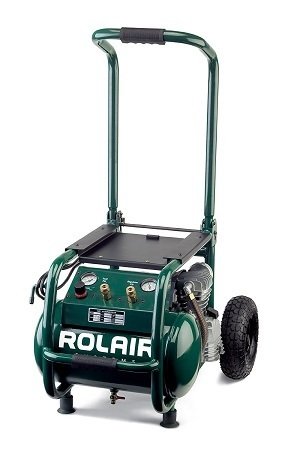 Rolair VT25BIG 2.5 HP Wheeled Compressor with Overload Protection and Manual Reset