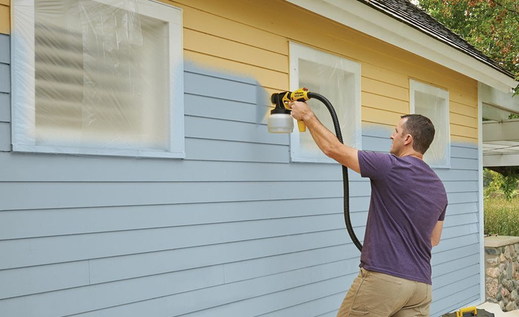 how to spray paint a house exterior