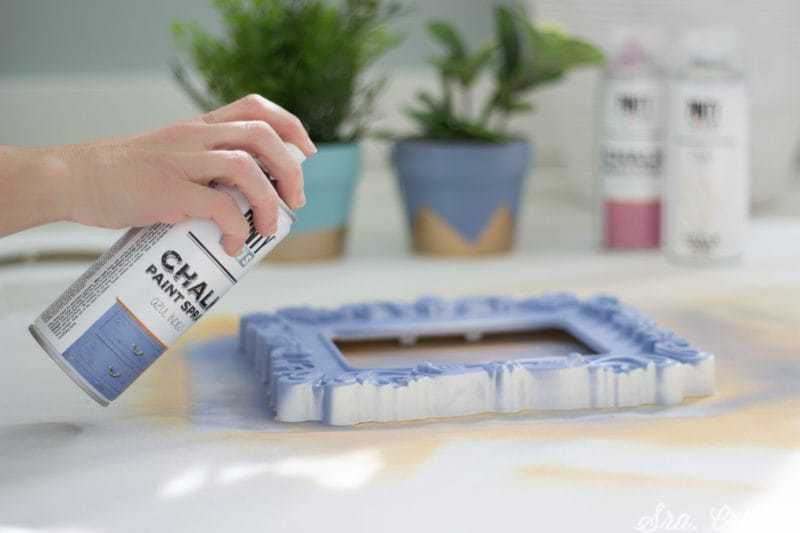 how to use chalk spray paint